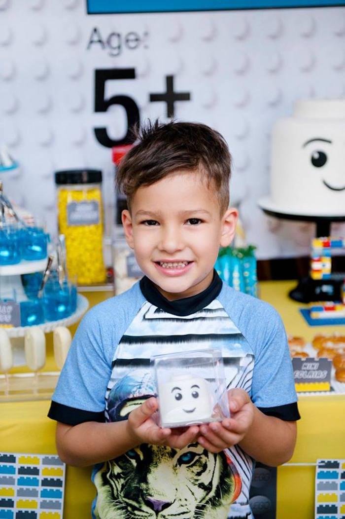Birthday Boy from a Modern Lego Themed Birthday Party via Kara's Party Ideas KarasPartyIdeas.com (28)