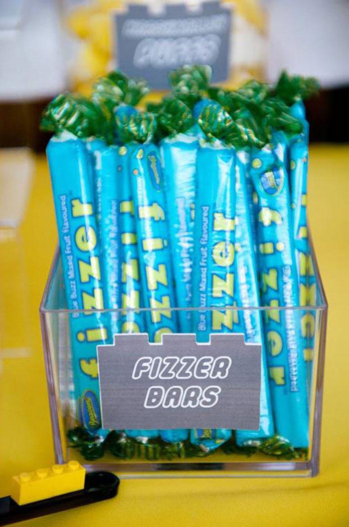 Fizzer Bars from a Modern Lego Themed Birthday Party via Kara's Party Ideas KarasPartyIdeas.com (7)