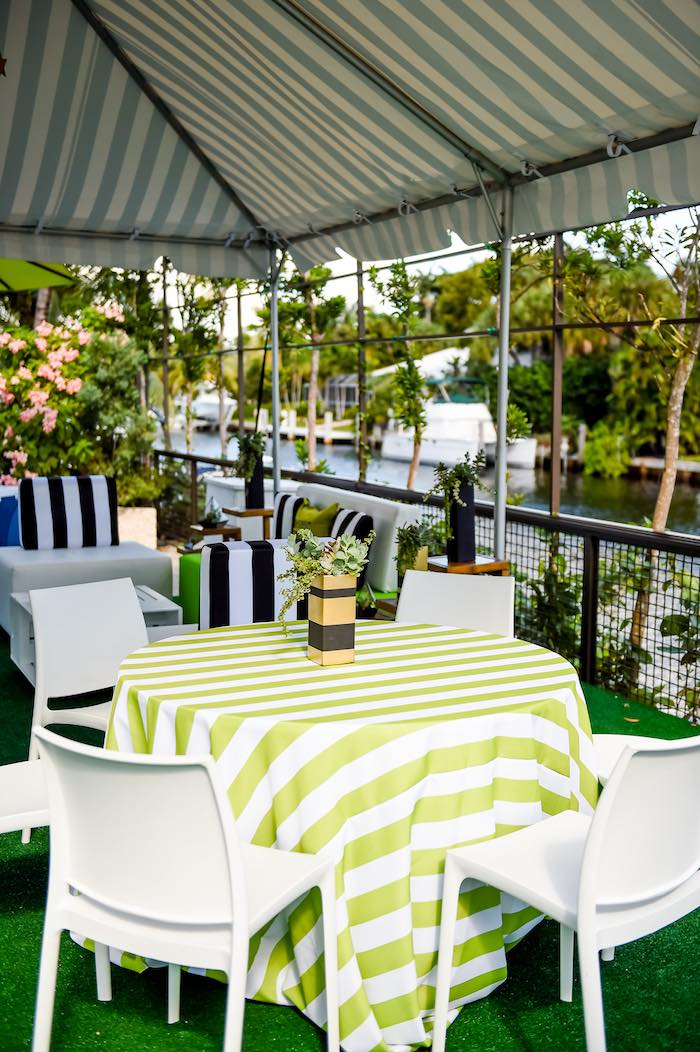 Guest Table from a Modern Neverland Birthday Party via Kara's Party Ideas KarasPartyIdeas.com (51)