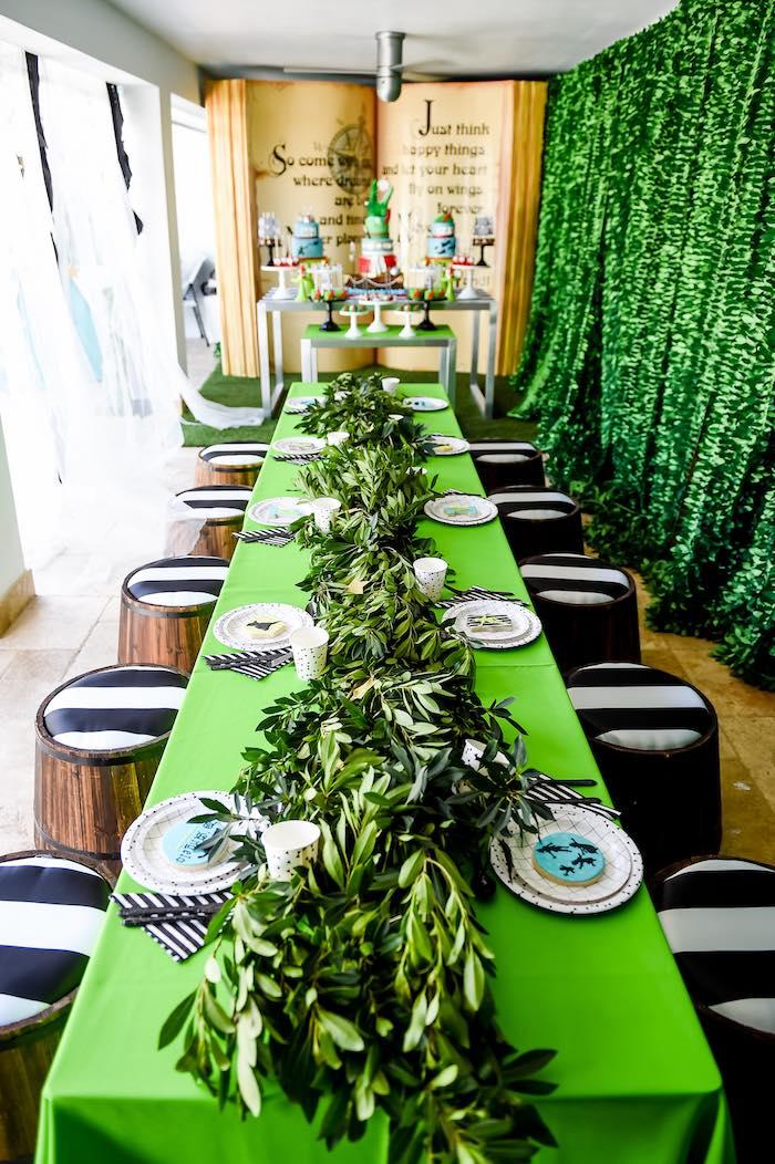Dining Tablescape from a Modern Neverland Birthday Party via Kara's Party Ideas KarasPartyIdeas.com (42)