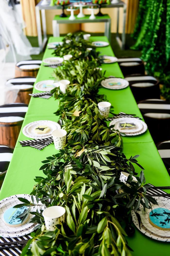 Dining Tablescape From A Modern Neverland Birthday Party Via Karas Ideas KarasPartyIdeas