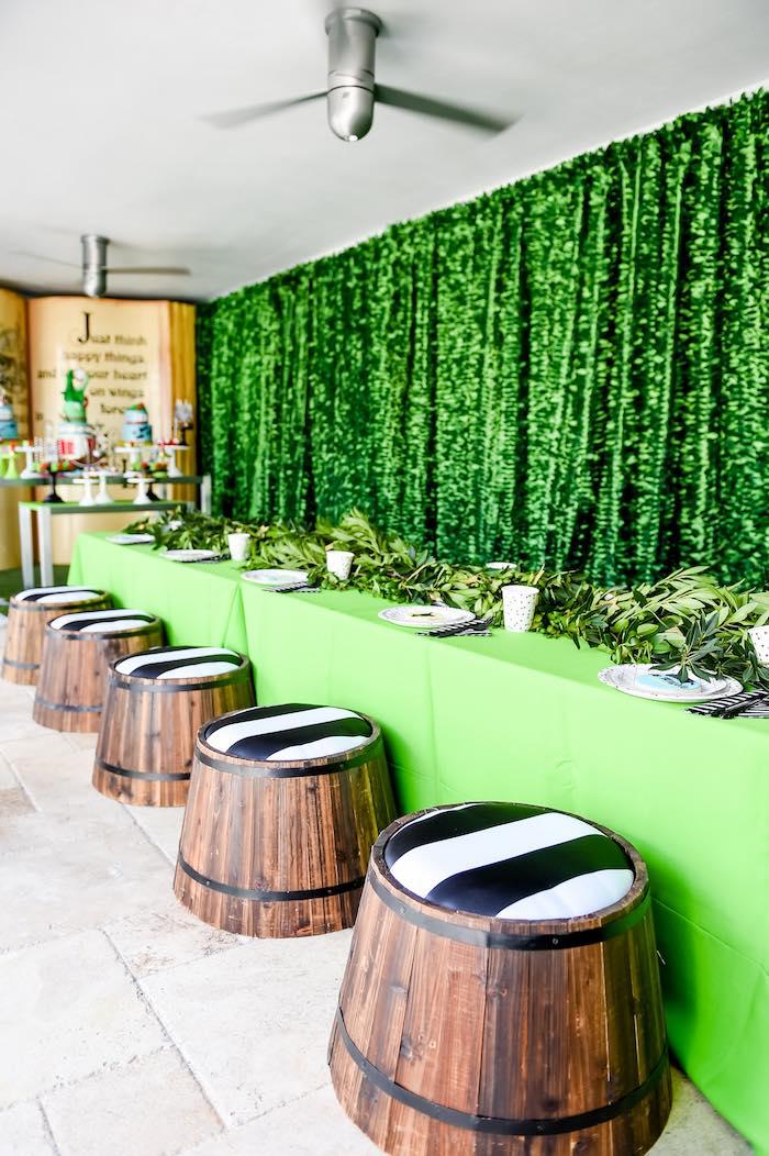 Dining Table from a Modern Neverland Birthday Party via Kara's Party Ideas KarasPartyIdeas.com (40)