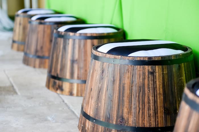 Barrel Stools from a Modern Neverland Birthday Party via Kara's Party Ideas KarasPartyIdeas.com (38)