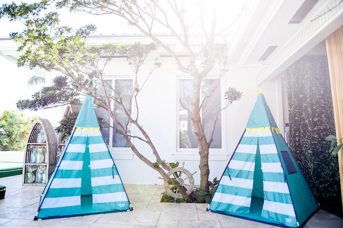 Tents from a Modern Neverland Birthday Party via Kara's Party Ideas KarasPartyIdeas.com (65)