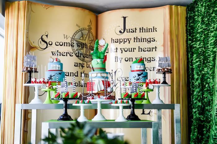 Dessert Table from a Modern Neverland Birthday Party via Kara's Party Ideas KarasPartyIdeas.com (37)