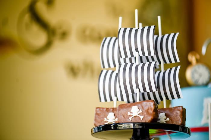 Pirate Ship Sweets from a Modern Neverland Birthday Party via Kara's Party Ideas KarasPartyIdeas.com (28)