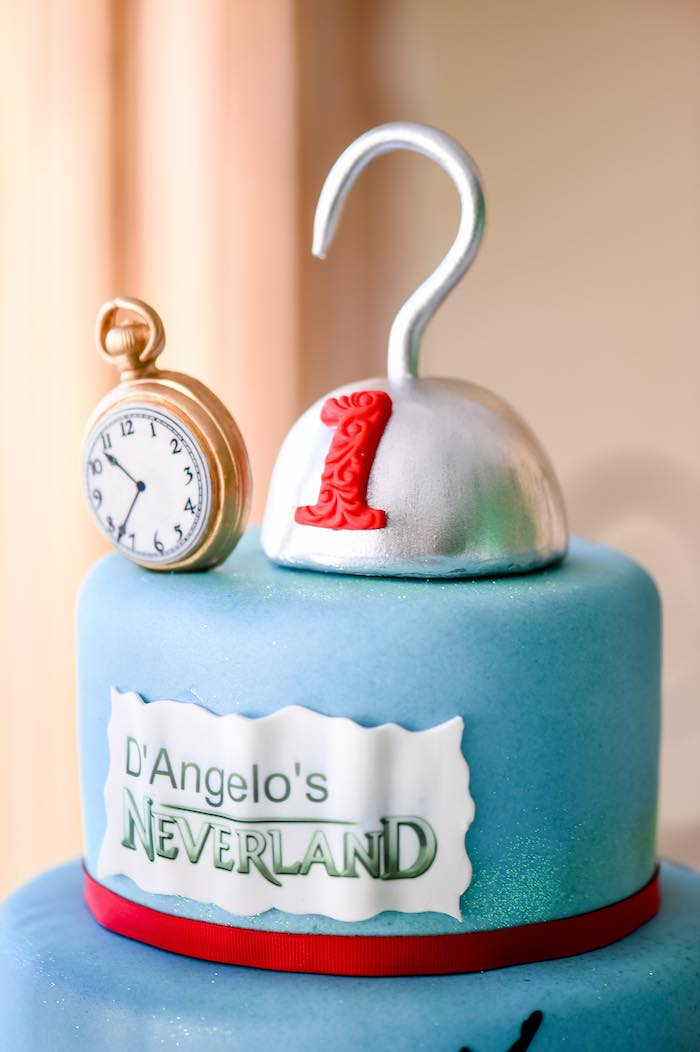 Cake from a Modern Neverland Birthday Party via Kara's Party Ideas KarasPartyIdeas.com (24)