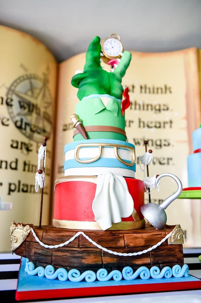 Cake from a Modern Neverland Birthday Party via Kara's Party Ideas KarasPartyIdeas.com (16)