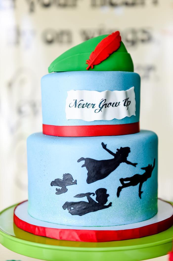 Cake from a Modern Neverland Birthday Party via Kara's Party Ideas KarasPartyIdeas.com (15)