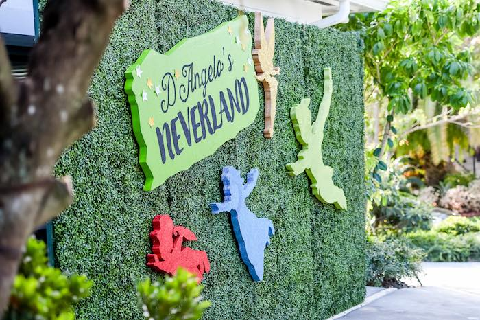 Backdrop from a Modern Neverland Birthday Party via Kara's Party Ideas KarasPartyIdeas.com (6)