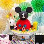 Cake + Cupcakes from a Modern Rainbow Mickey Mouse Clubhouse Birthday Party via Kara's Party Ideas KarasPartyIdeas.com (2)