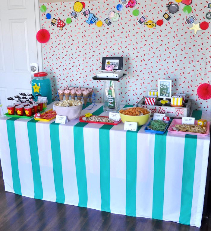 Birthday Party Head Table Image Inspiration of Cake and Birthday