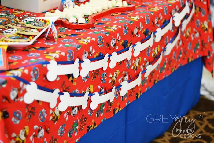 Dog Bone Banner + Garland from a Paw Patrol Birthday Party via Kara's Party Ideas | KarasPartyIdeas.com (19)