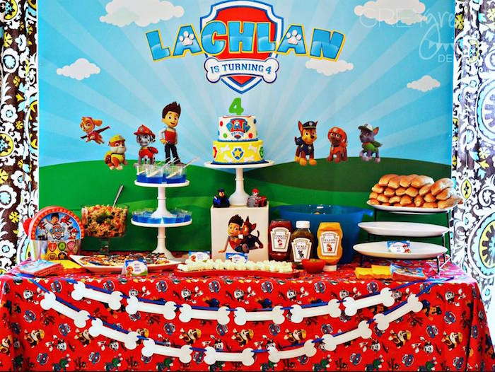 Sweet Table from a Paw Patrol Birthday Party via Kara's Party Ideas | KarasPartyIdeas.com (17)