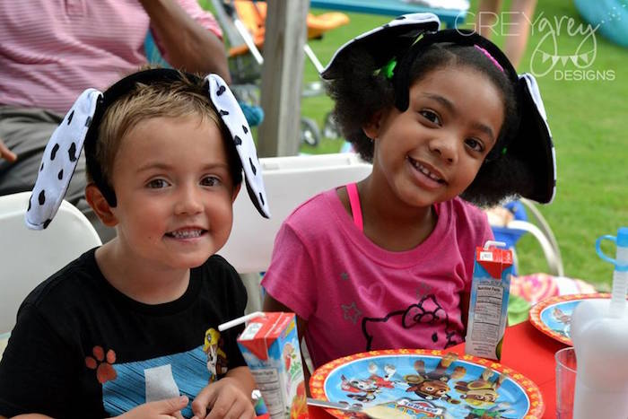 Children from a Paw Patrol Birthday Party via Kara's Party Ideas | KarasPartyIdeas.com (14)