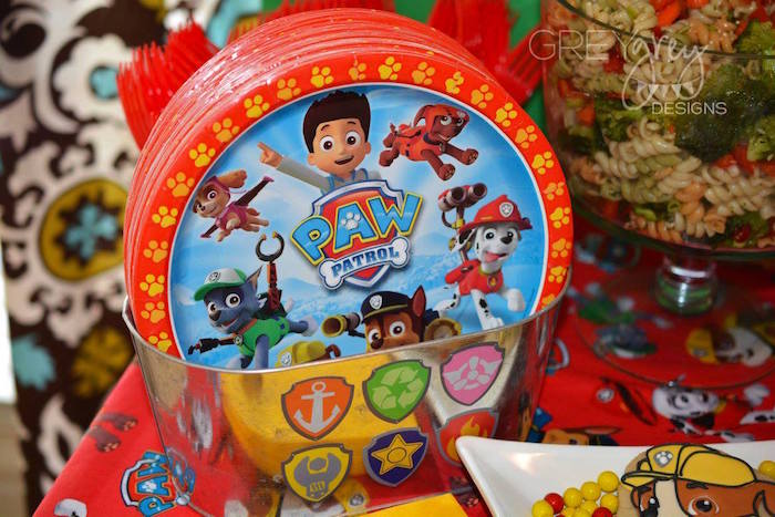Plates from a Paw Patrol Birthday Party via Kara's Party Ideas | KarasPartyIdeas.com (13)