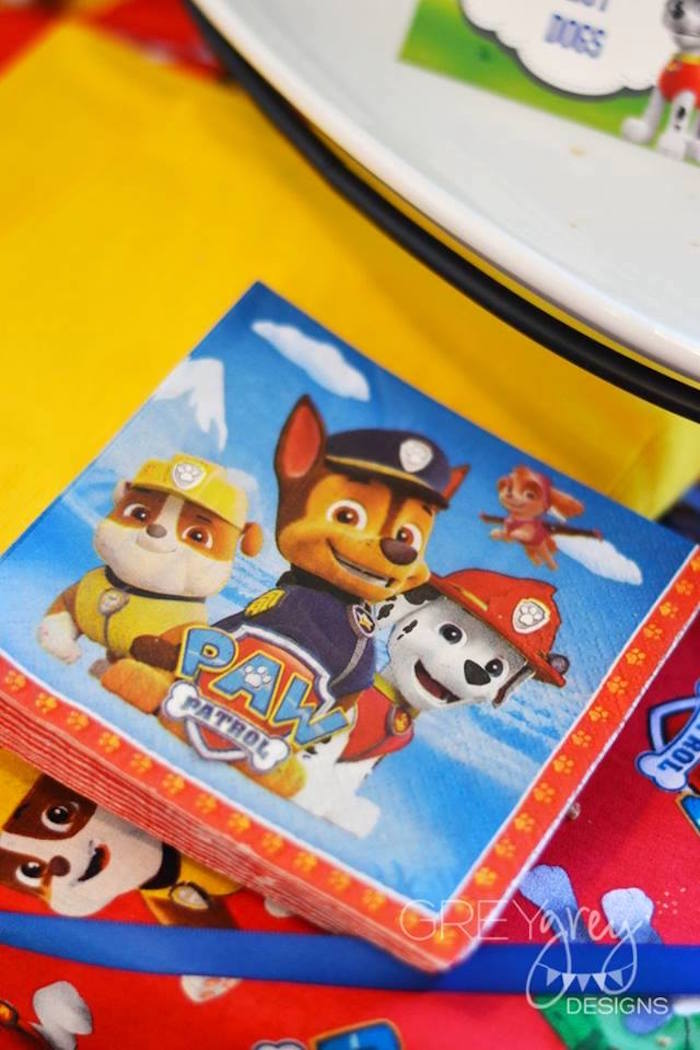 Paw Patrol Napkins from a Paw Patrol Birthday Party via Kara's Party Ideas | KarasPartyIdeas.com (11)