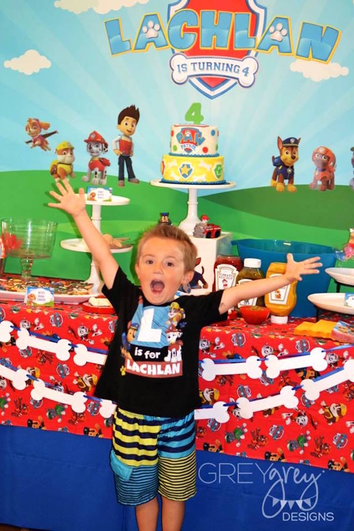 Birthday Boy + Dessert Table from a Paw Patrol Birthday Party via Kara's Party Ideas | KarasPartyIdeas.com (10)