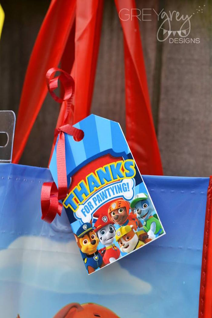 Favor Tag from a Paw Patrol Birthday Party via Kara's Party Ideas | KarasPartyIdeas.com (9)