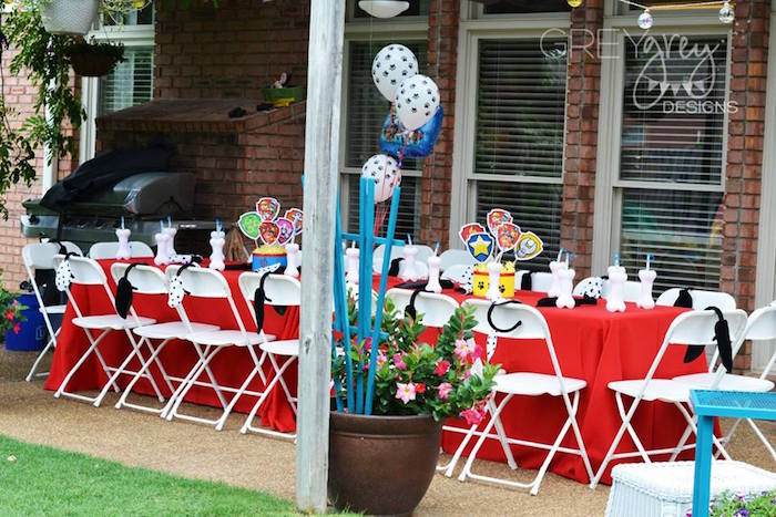 Dining Table from a Paw Patrol Birthday Party via Kara's Party Ideas | KarasPartyIdeas.com (8)