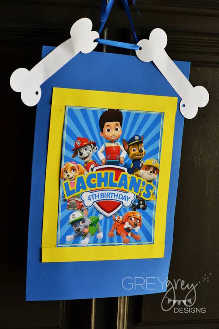 Sign from a Paw Patrol Birthday Party via Kara's Party Ideas | KarasPartyIdeas.com (6)