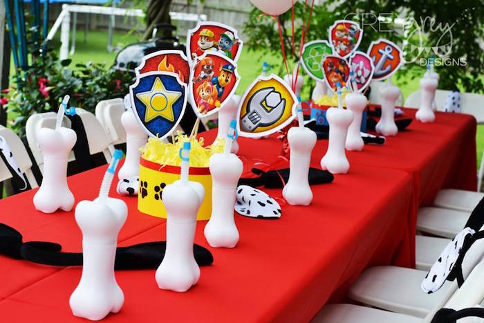 Dining Tablescape from a Paw Patrol Birthday Party via Kara's Party Ideas | KarasPartyIdeas.com (4)