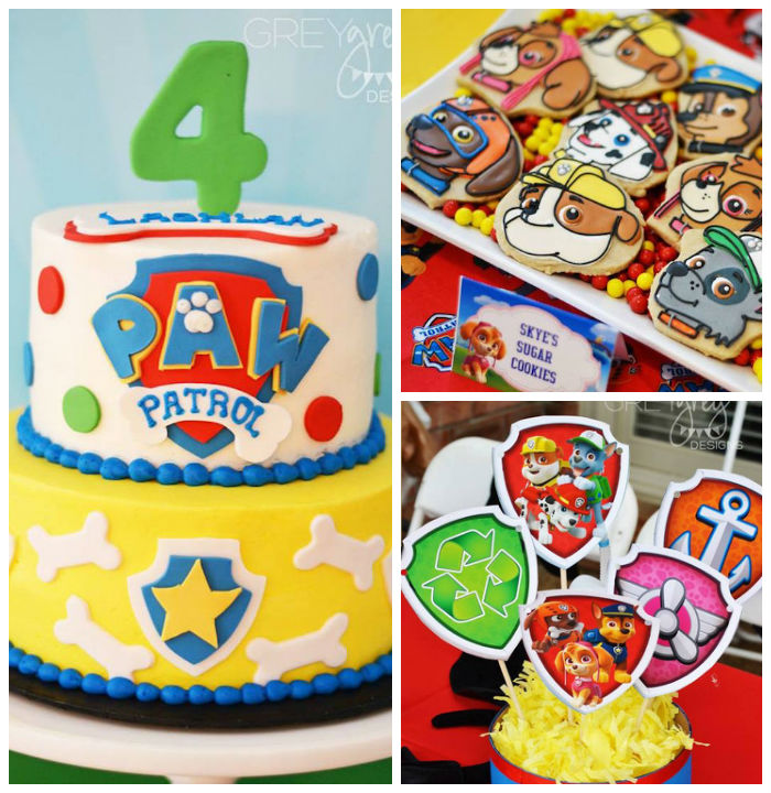 First Birthday Paw Patrol Cake