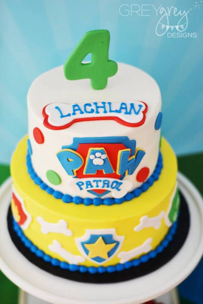 Cake from a Paw Patrol Birthday Party via Kara's Party Ideas | KarasPartyIdeas.com (24)