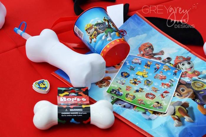 Favor Bag Contents from a Paw Patrol Birthday Party via Kara's Party Ideas | KarasPartyIdeas.com (23)