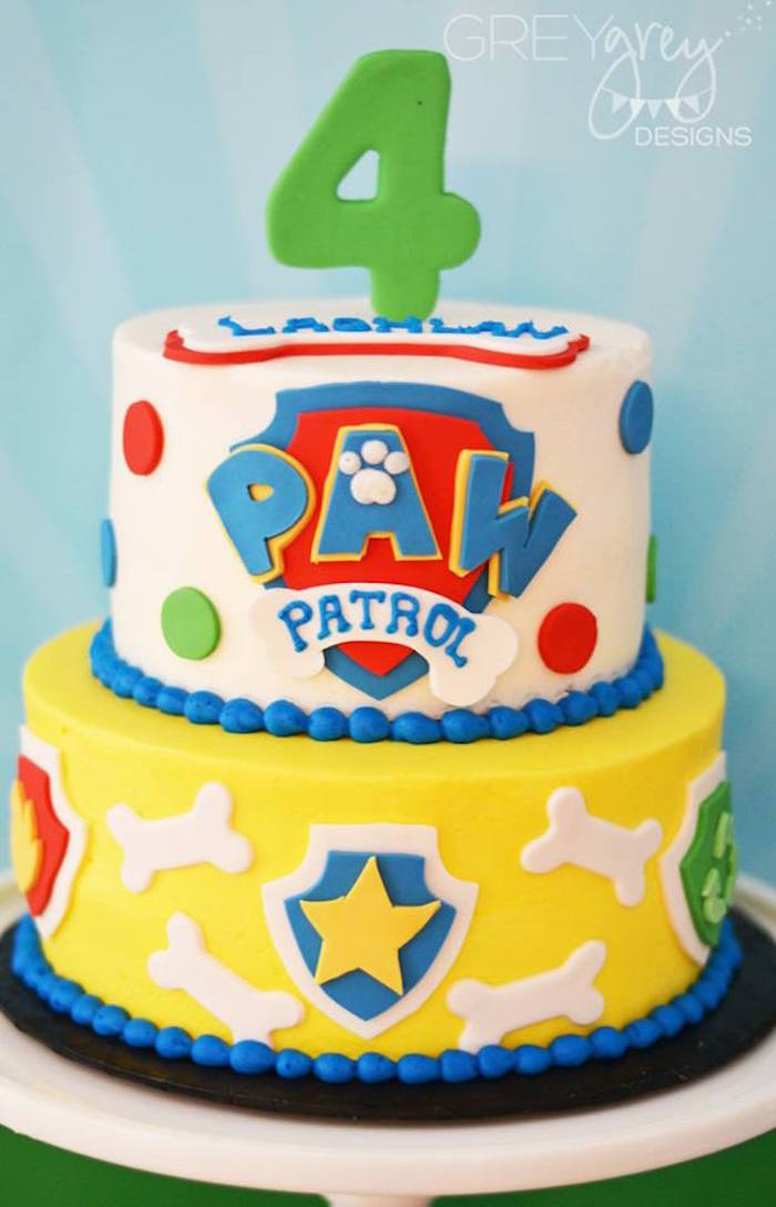 Cake from a Paw Patrol Birthday Party via Kara's Party Ideas | KarasPartyIdeas.com (22)