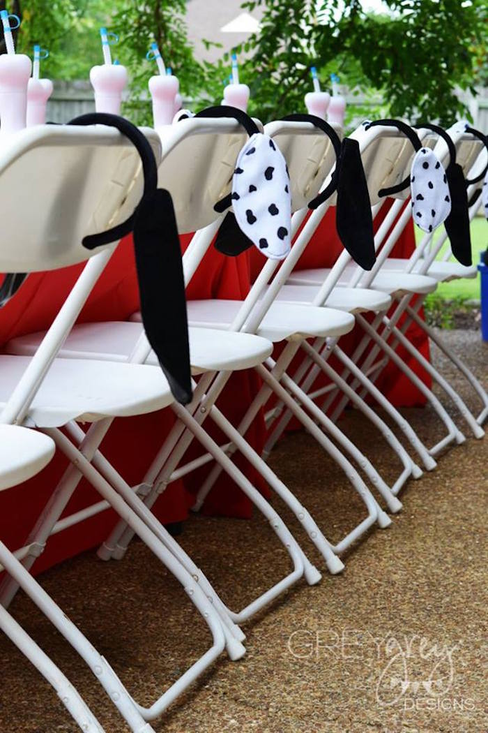 Dog Ears draped over chairs from a Paw Patrol Birthday Party via Kara's Party Ideas | KarasPartyIdeas.com (20)