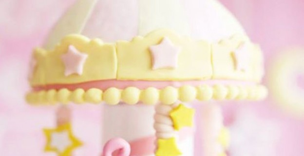 Cake Detail from a Pink & Gold Twinkle Star Birthday Party via Kara's Party Ideas | KarasPartyIdeas.com (2)