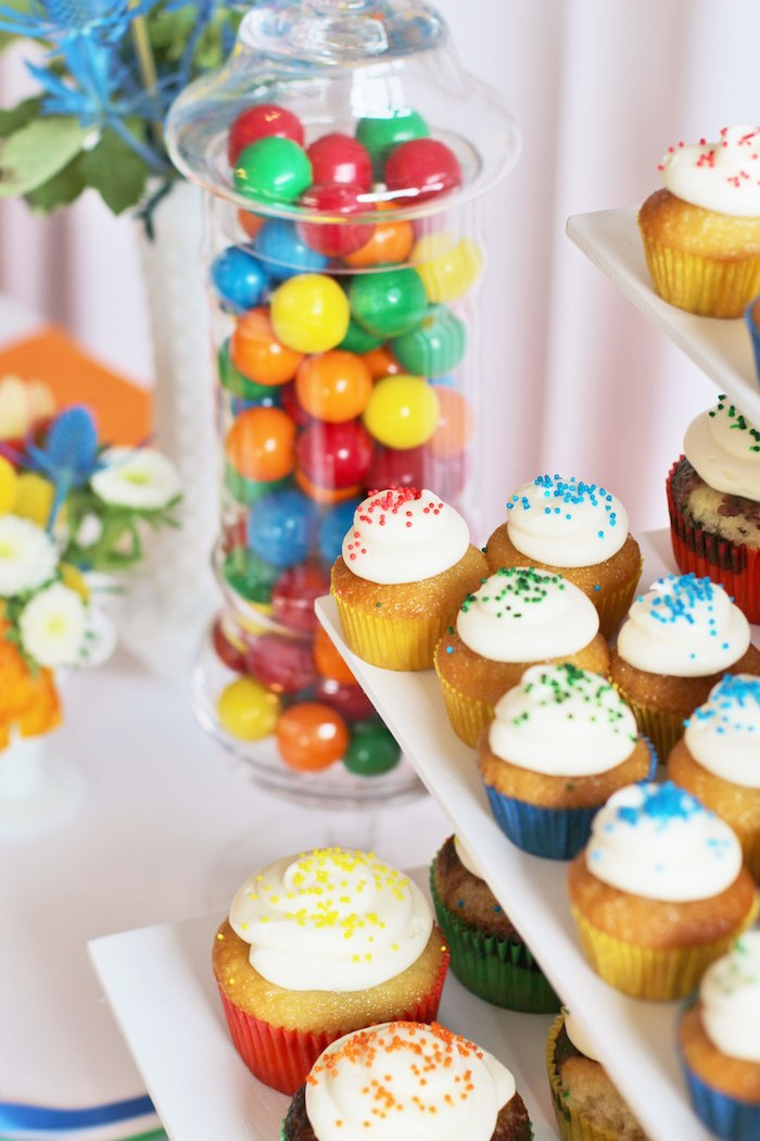 Kara S Party Ideas Primary Color Ball Birthday Party