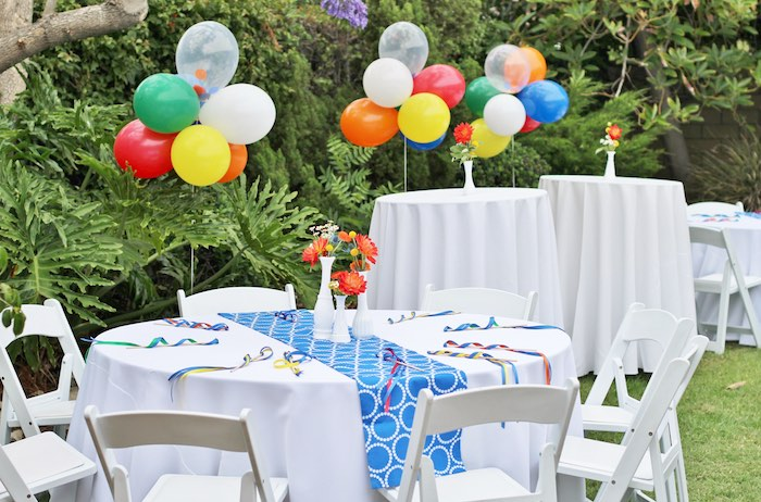 Karas Party Ideas Primary Color Ball Birthday Party