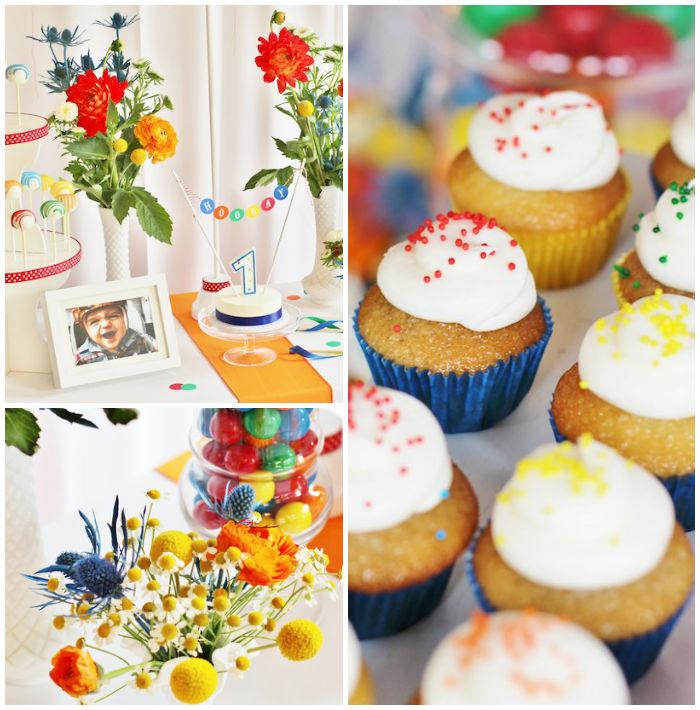 Kara S Party Ideas Car Themed 1st Birthday Party Via Kara: Kara's Party Ideas Primary Color Ball Birthday Party
