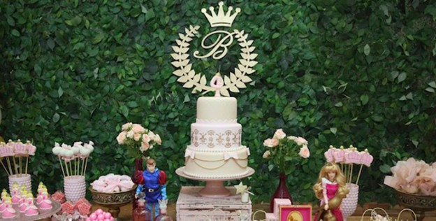 Sweet Table from a Princess Aurora + Sleeping Beauty Birthday Party via Kara's Party Ideas KarasPartyIdeas.com (1)