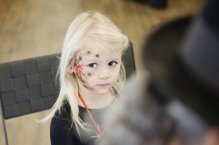 Karau0026#39;s Party Ideas Little Girl In Her Rock Star Makeup From A Rock Star Birthday Party Via Kara ...