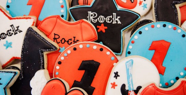 Cookies from a Rock Star Birthday Party via Kara's Party Ideas | KarasPartyIdeas.com (1)