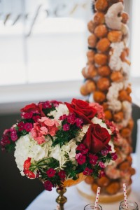 Floral Arrangement from a Royal London 1st Birthday Party via Kara's Party Ideas | KarasPartyIdeas.com (6)