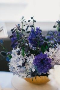 Floral Arrangement from a Royal London 1st Birthday Party via Kara's Party Ideas | KarasPartyIdeas.com (5)