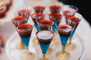 Jell-o mocktail cups from a Royal London 1st Birthday Party via Kara's Party Ideas | KarasPartyIdeas.com (17)