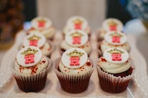 Cupcakes from a Royal London 1st Birthday Party via Kara's Party Ideas | KarasPartyIdeas.com (16)