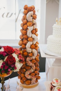 Donut Tower from a Royal London 1st Birthday Party via Kara's Party Ideas | KarasPartyIdeas.com (14)
