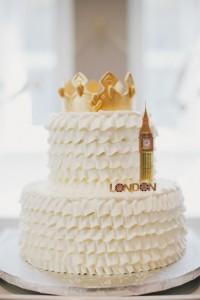 Cake from a Royal London 1st Birthday Party via Kara's Party Ideas | KarasPartyIdeas.com (13)