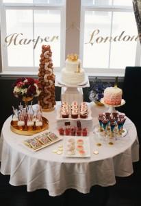 Sweet Table from a Royal London 1st Birthday Party via Kara's Party Ideas | KarasPartyIdeas.com (12)