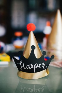 Crown Party Hat from a Royal London 1st Birthday Party via Kara's Party Ideas | KarasPartyIdeas.com (10)