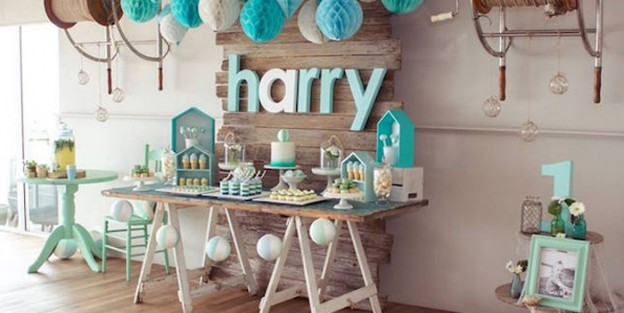 Sweet Table From A Rustic Beach Ball Birthday Party Via Karas Ideas KarasPartyIdeas