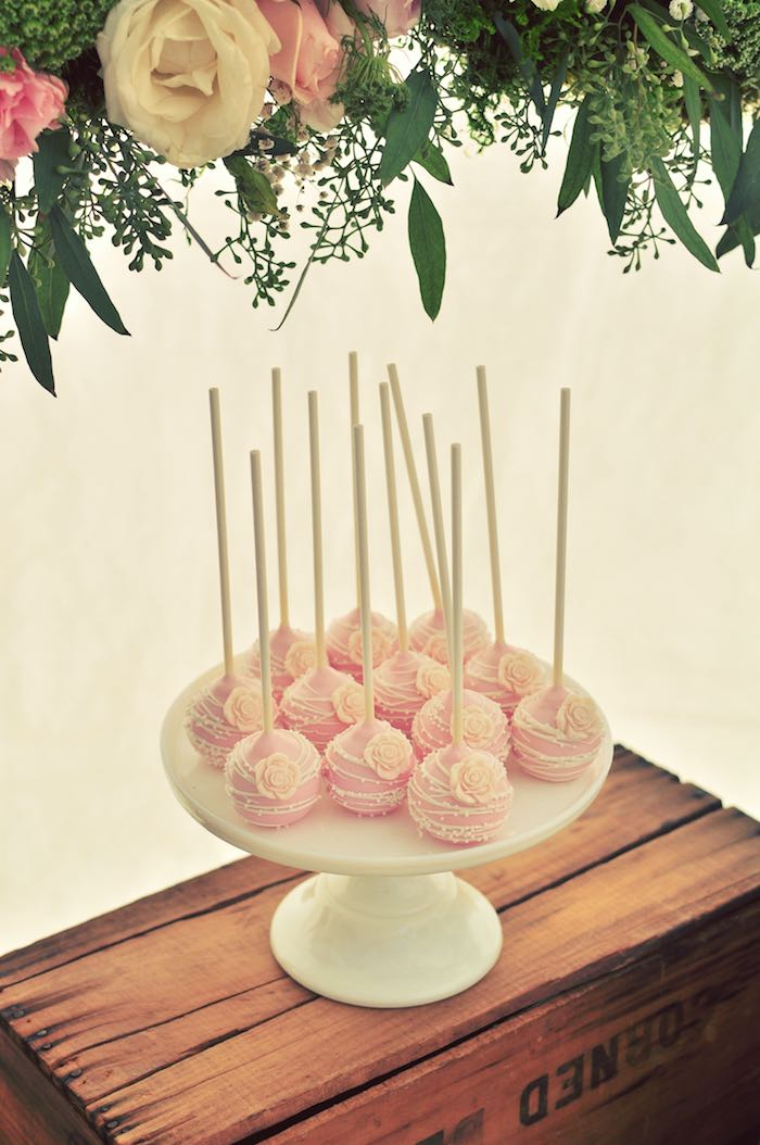 Cake Pops From A Rustic Chic Engagement Party Via Karas Ideas