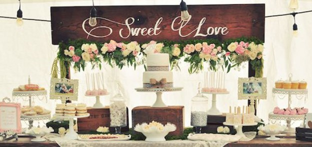 Dessert Table from a Rustic Chic Engagement Party via Kara's Party Ideas | KarasPartyIdeas.com (1)