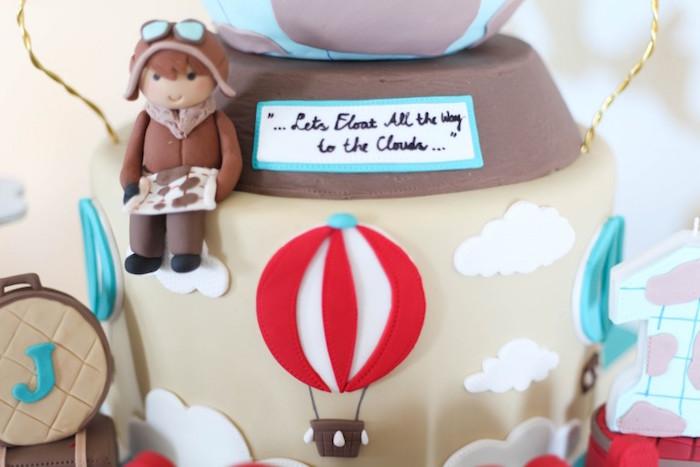 Cake Detail from a Rustic Hot Air Balloon Birthday Party via Kara's Party Ideas KarasPartyIdeas.com (9)